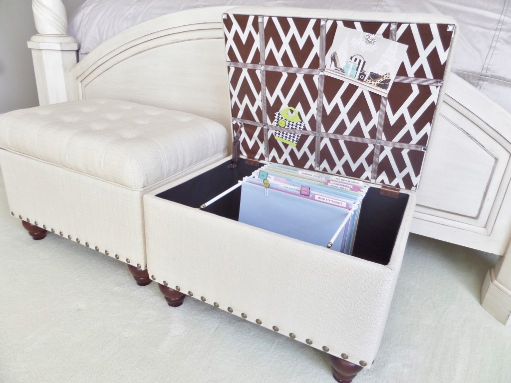 File Storage Ottoman Be My Guest With Denise