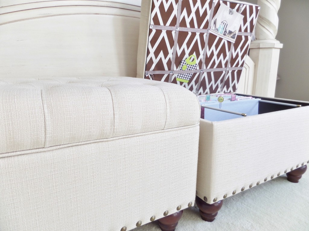 Storage ottomans are great for any space. Especially small apartment  living. It's not only for filing papers. You can place throws, toss  pillows, ... - File Storage Ottoman - Be My Guest With Denise