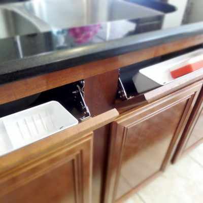 How to Install a Sink Front Tip Out Tray