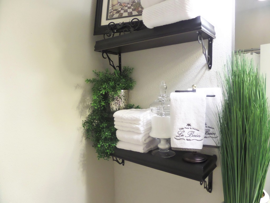 Guest bathroom decorating on a budget be my guest with Over the toilet design ideas