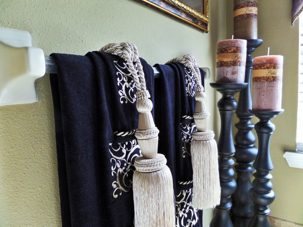 Master bathroom tuscan inspired be my guest with denise for Bathroom decorative towels