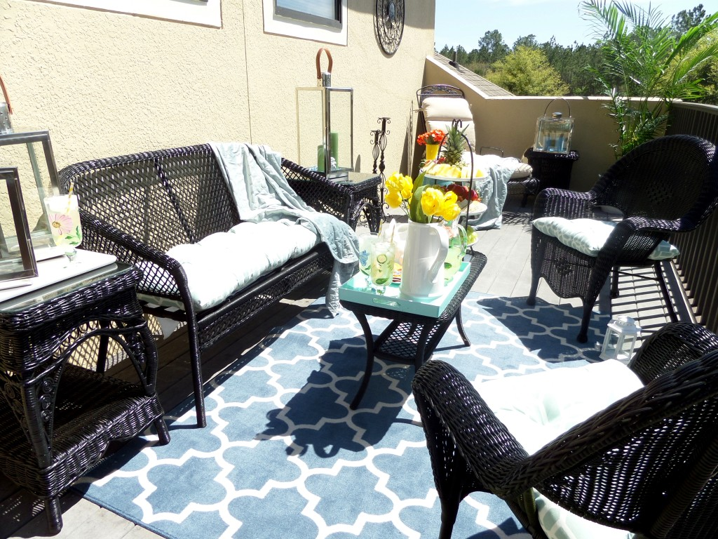 Decorating your balcony on a budget be my guest with denise for Outdoor living spaces on a budget