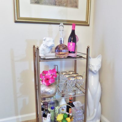 Thrifty Find {Bar Cart Styling}