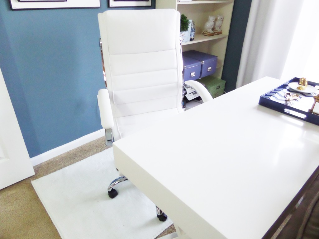 white high back office chair