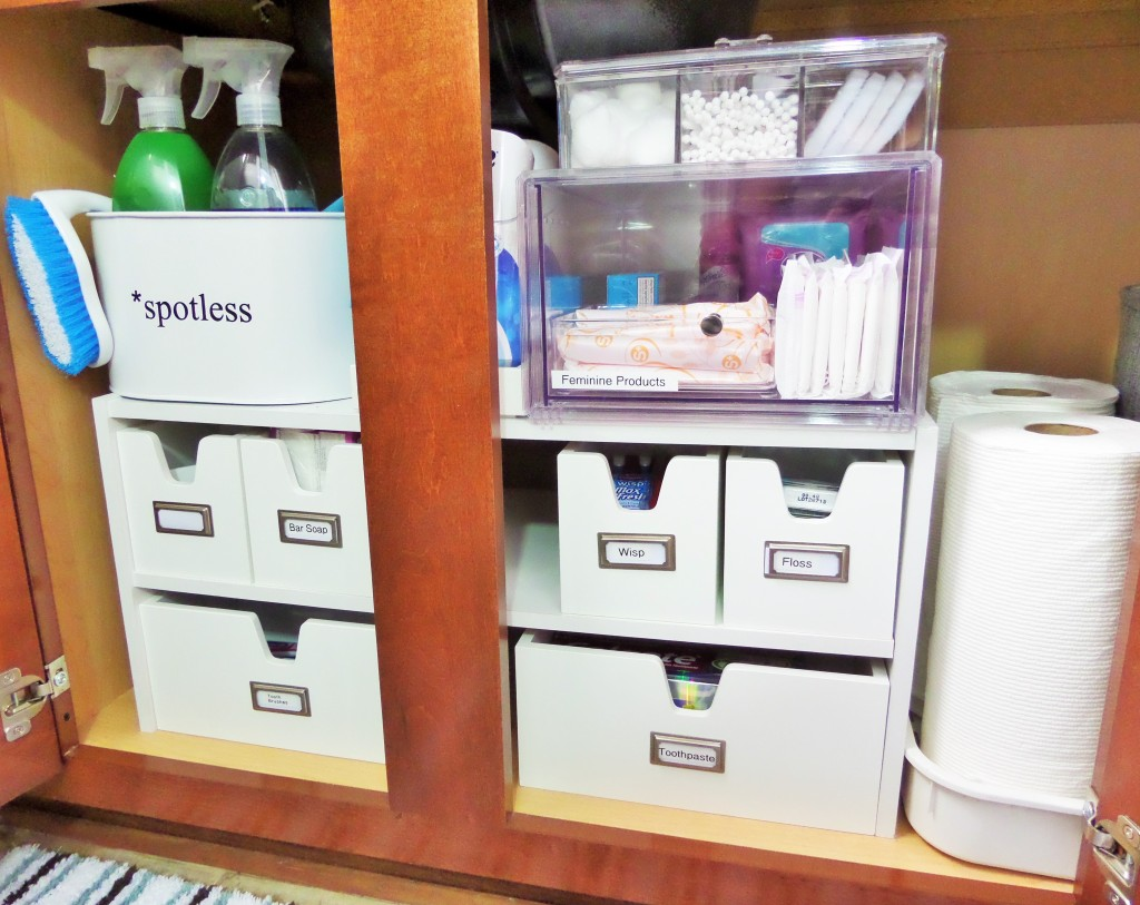Under bathroom sink organization for your guests be for Bathroom under sink organizer