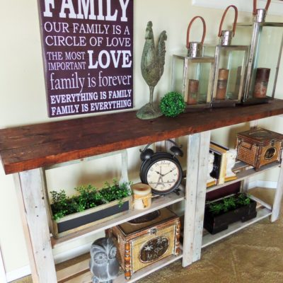 Trash To Treasure {Rustic Console Table}
