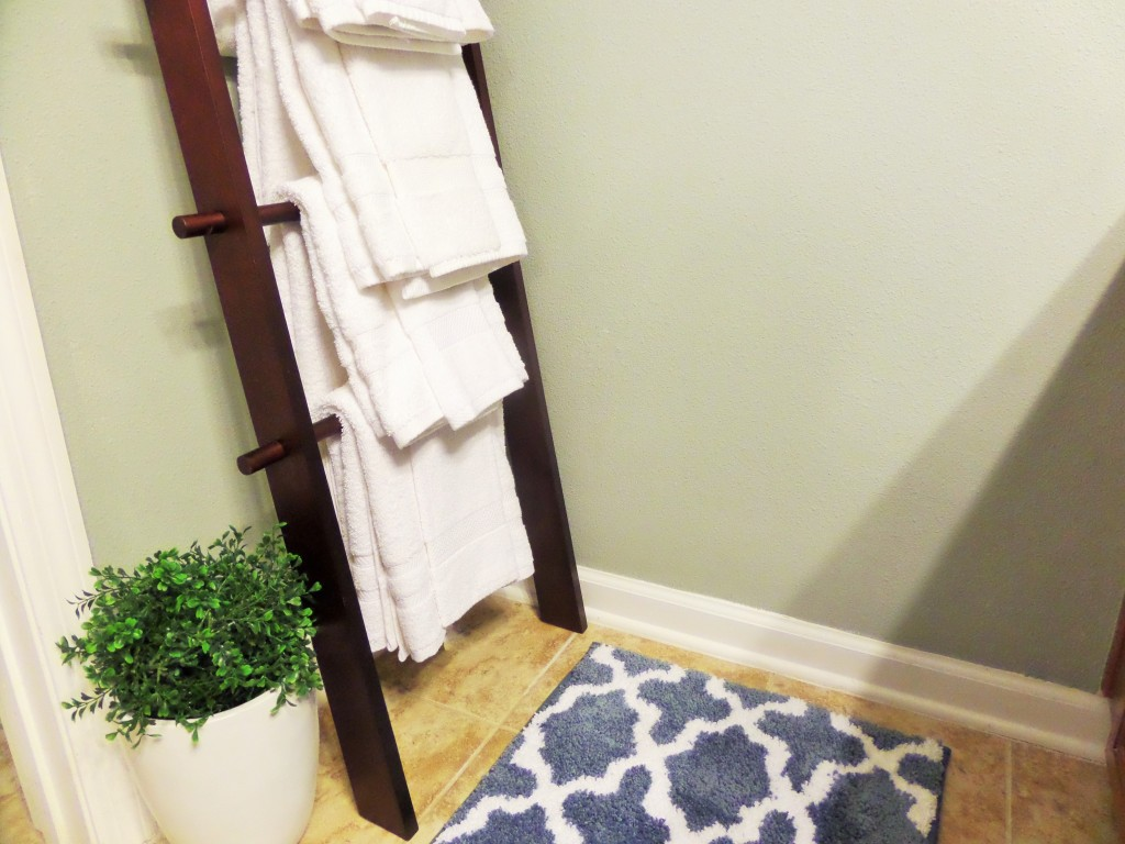 expresso ladder used to hold bath towels