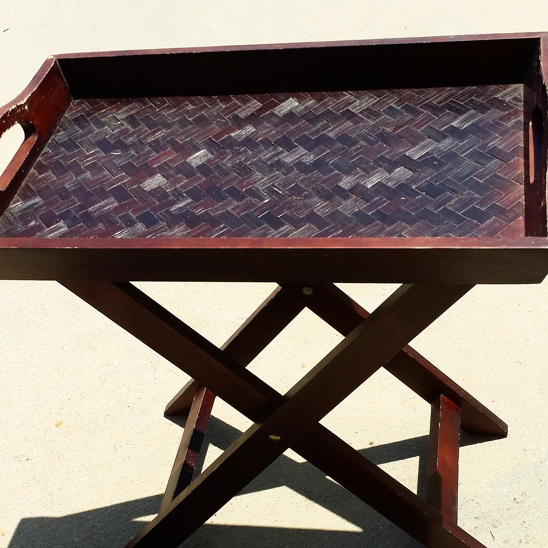 Flea Market Flip Butlers Tray Table Turned Chanel Bedside Table