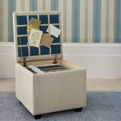 DIY: File Storage Ottoman