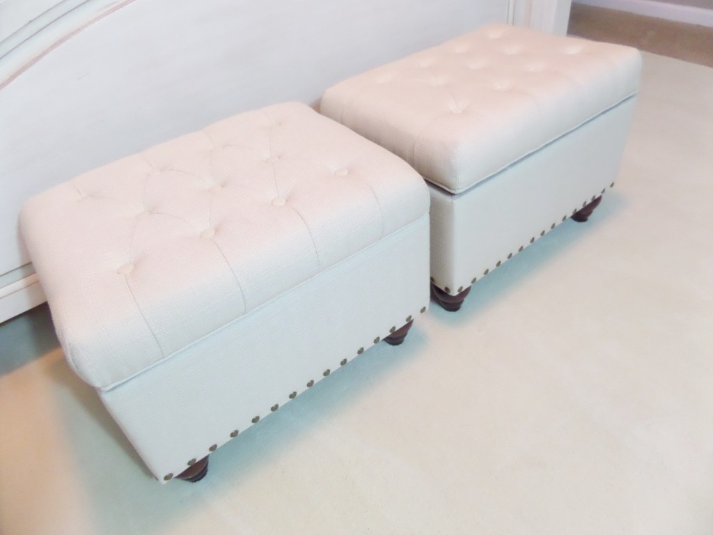 Beautiful DIY File Storage Ottoman