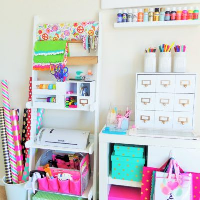 Gift Wrap & Craft Station Organization