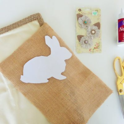 No-Sew Burlap Bunny Pillow