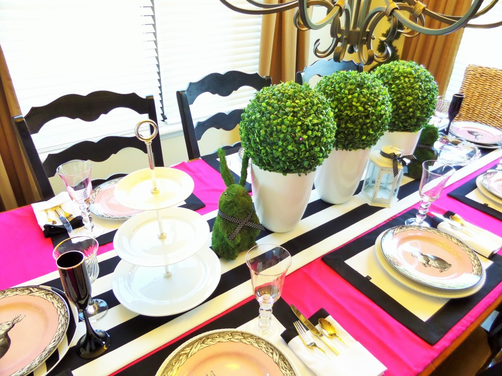 Faux Boxwood for centerpiece