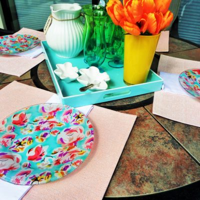 Lilly Pulitzer Inspired Plate