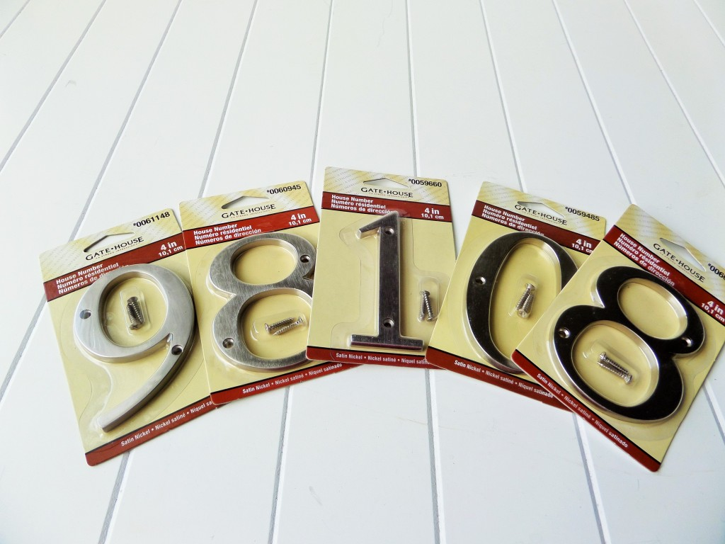 Nickel Finish House Numbers