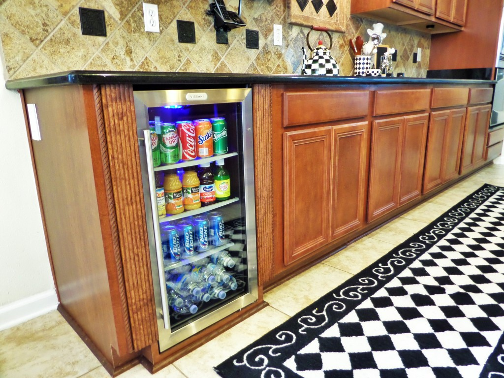Built in Beverage Fridge in the kitchen