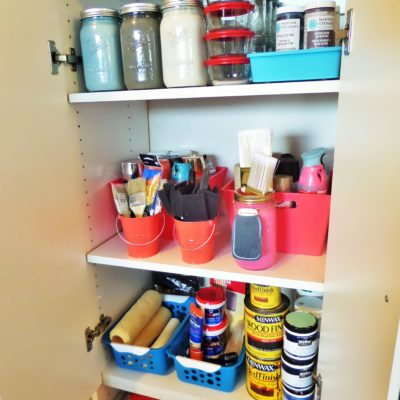 FREE -I-Y | Budget Friendly Ways To Store and Organize Left Over Paint