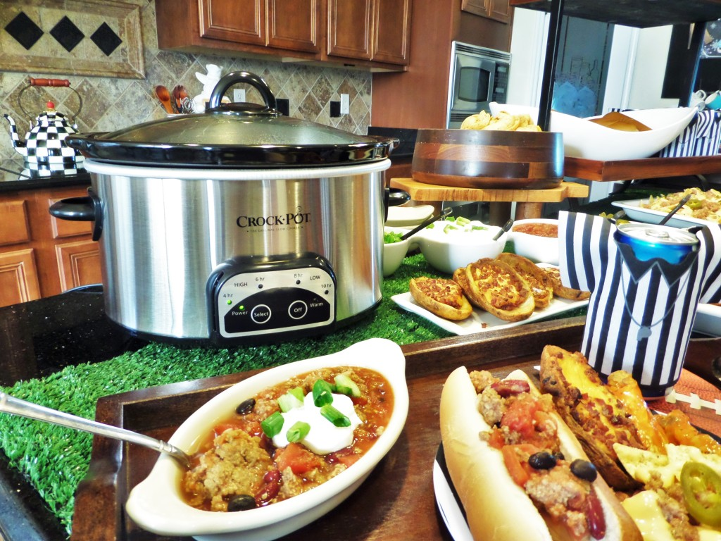 Game Day With Crock-Pot Cuisine Beef and Three Bean Chili