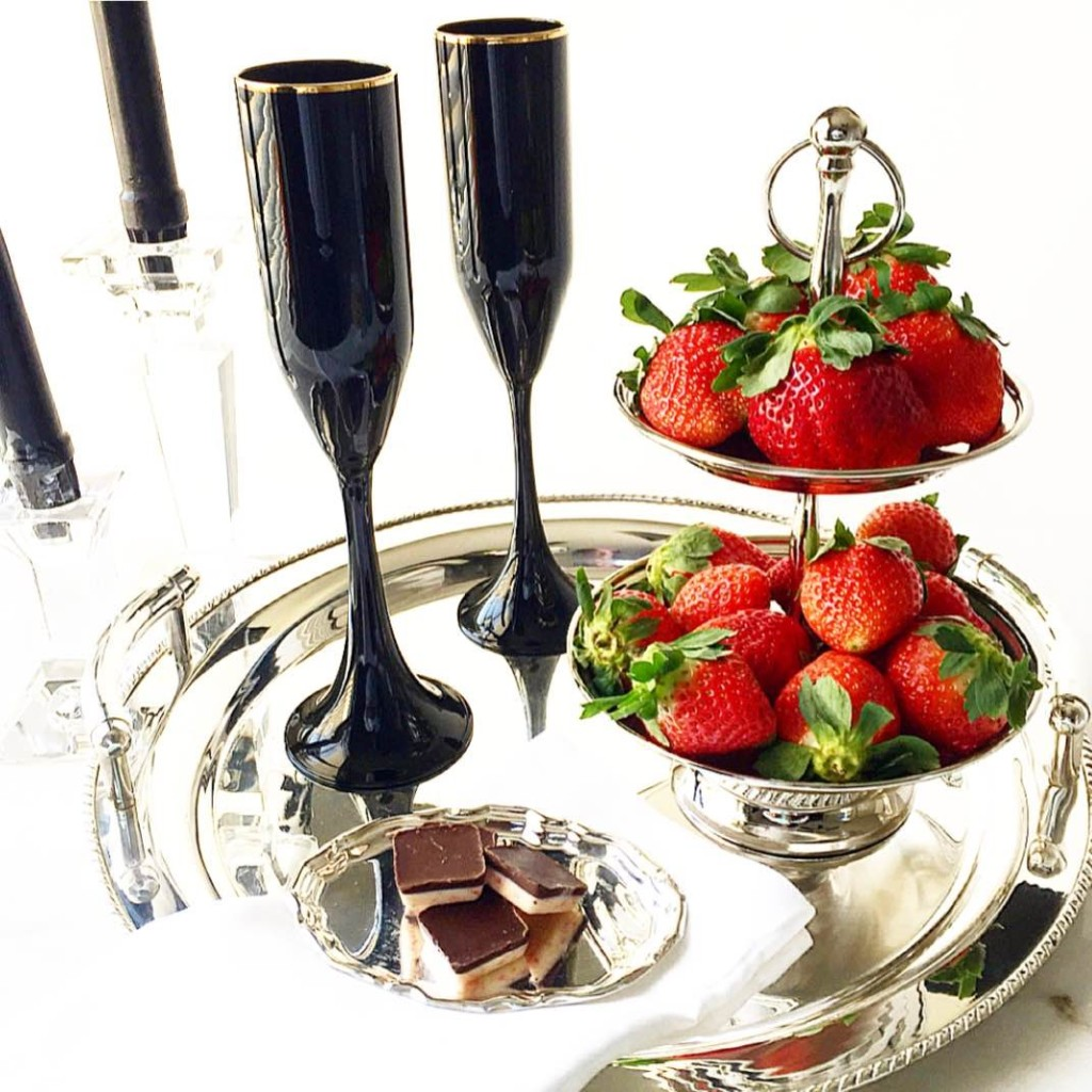 Serving Tray and Mini Tiered Stand