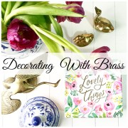 Thrifty Finds Thursday|Decorating With Brass
