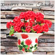 Thrifty Finds Thursday | Red Geraniums by Judy Buswell