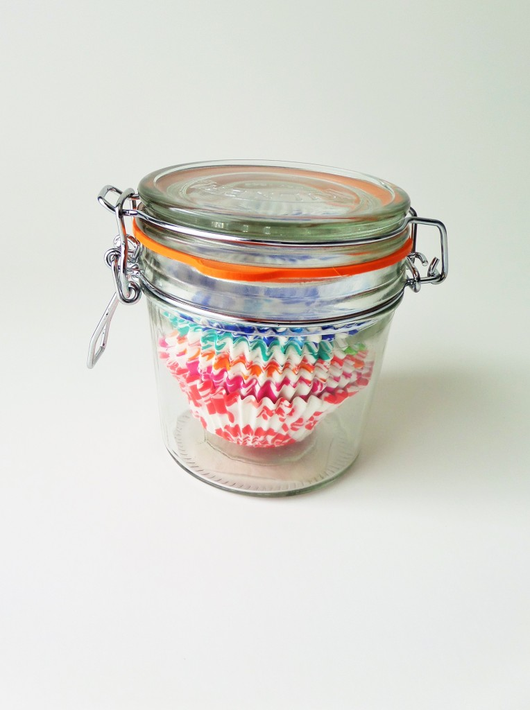 Cupcake Liners in a mason jar