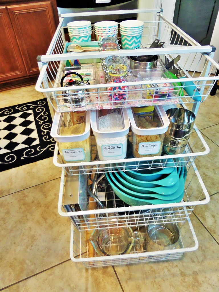 DIY Baking Supplies Organization