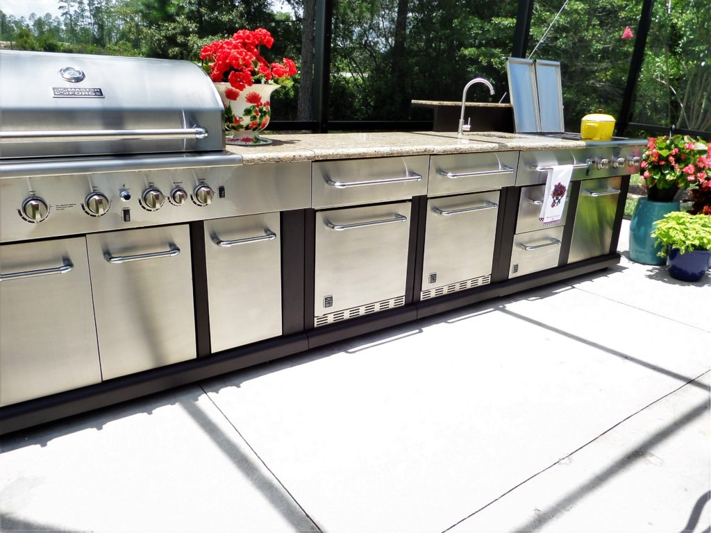 delightful Master Forge Modular Outdoor Kitchen #6: Master Forge 5-Burner Modular Gas Grill