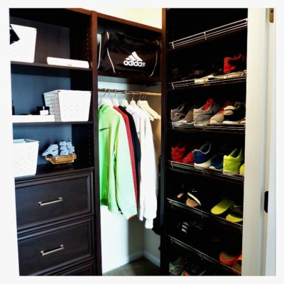 Back To School Teen Boy Closet Makeover w/ClosetMaid Space Creations