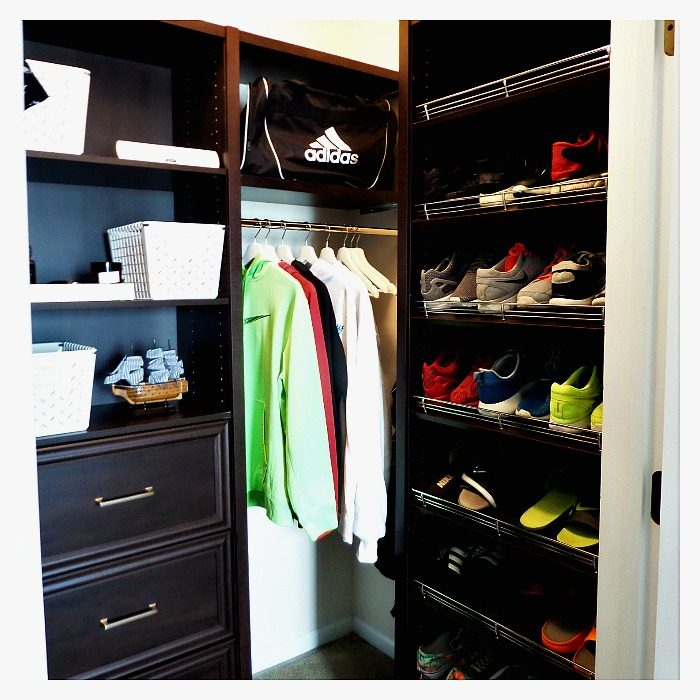 Back To School Teen Boy Closet Makeover W Closetmaid Space