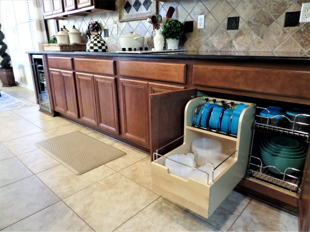Wood Food Storage Container Organizer for Base Cabinets by Rev-A-Shelf