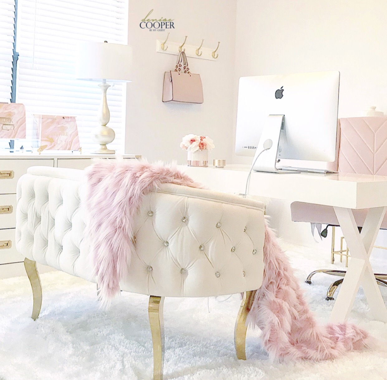 Blush Pink Home Office Tour Be My Guest With Denise