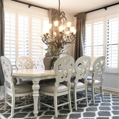 Kitchen Up Date | Plantation Shutters w/Sunburst Shutters