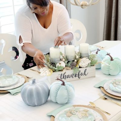Teal Harvest Home Decor w/Christmas Tree Shops andThat!