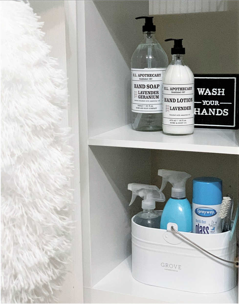 Linen and Cleaning Closet